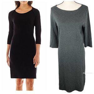 Liz Claiborne Dark Grey Ponte Dress